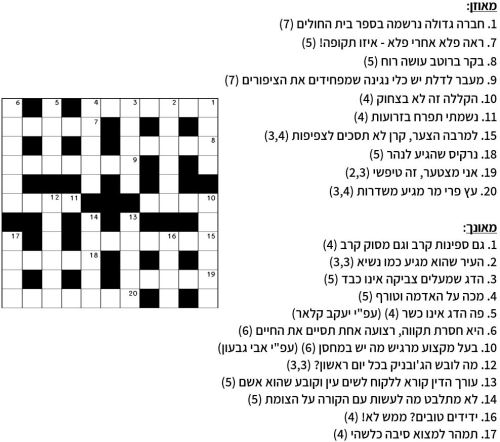 הוראות חדשות קרב מילים – תשבץ היגיון מס' 41 / ליאור ליאני © | בלוג השפה העברית XP-28